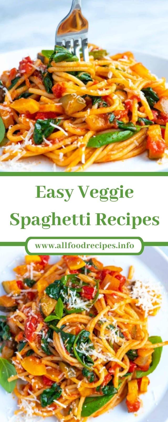 Easy Veggie Spaghetti Recipes