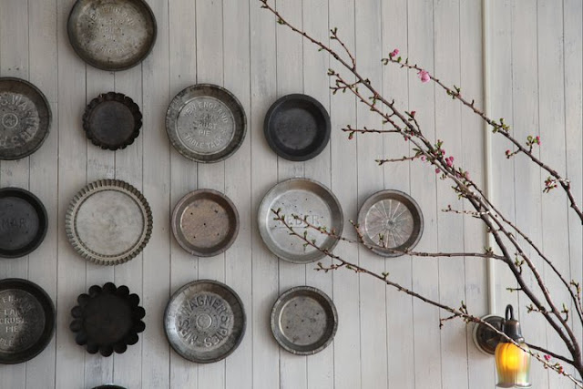 Collection of Pie Tins from Martha Stewart Living #gallerywall #decorating #decoratingideas #andersonandgrant