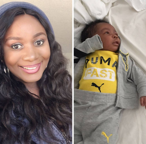 "Actress Amanda Ebeye welcomes son, ""Benjamin"""