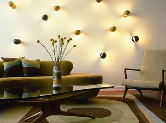 Lampu hias ruang tamu untuk dinding yang cantik