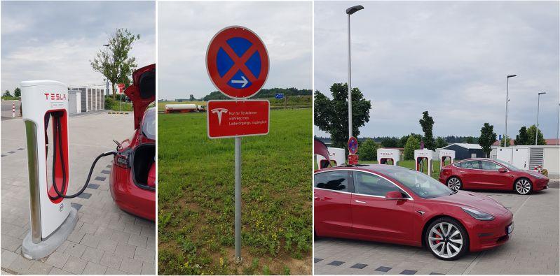 Großzügige Tesla Ladestation bei Ulm