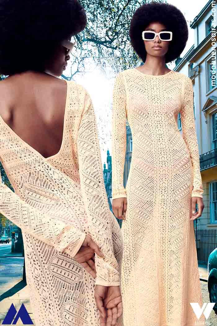 Vestidos tejidos primavera verano 2021 moda mujer