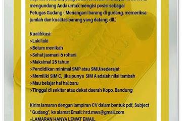 Lowongan Kerja Bandung Petugas Gudang Bandung