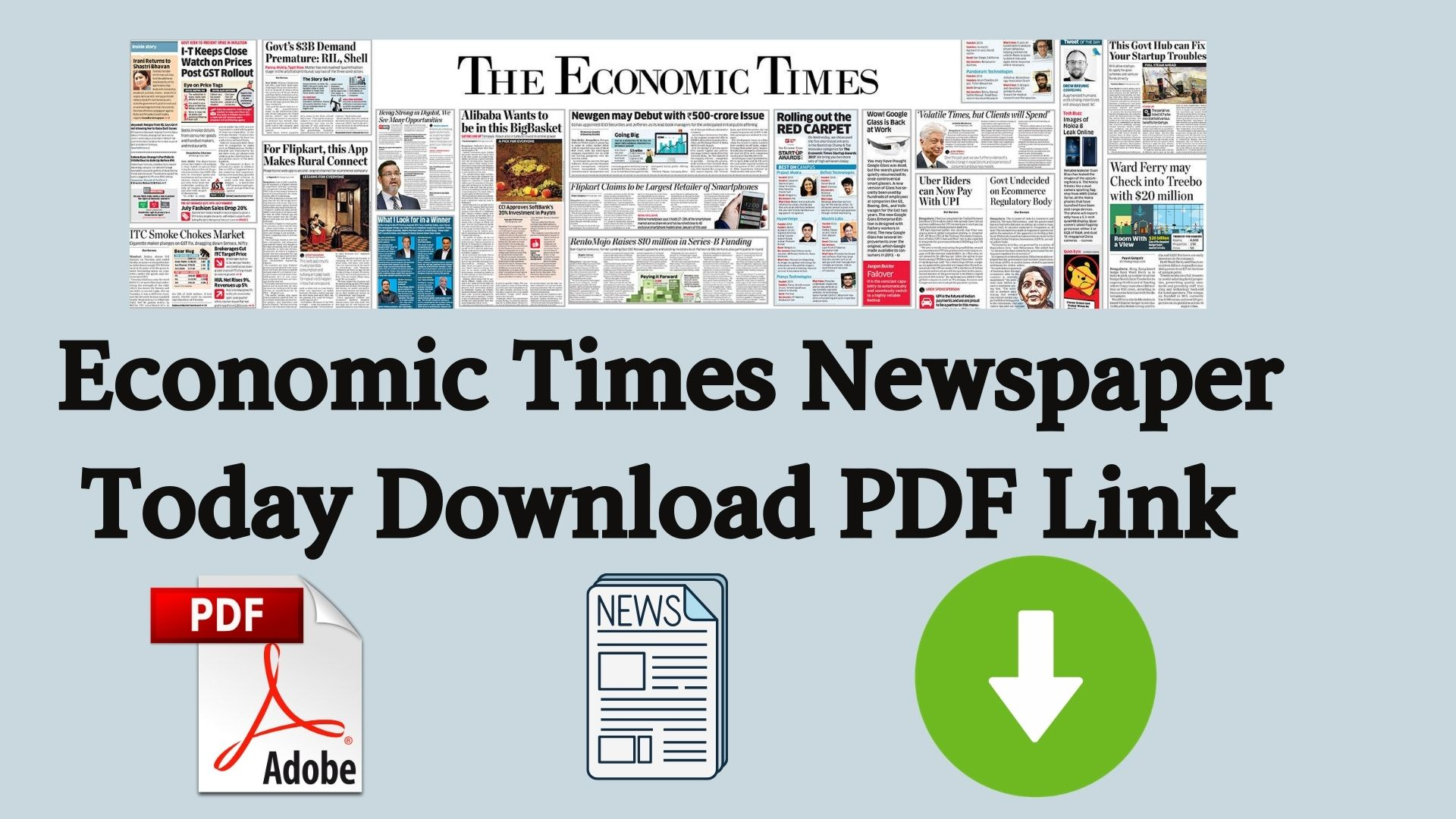 Economic Times Newspaper Today Download PDF Link