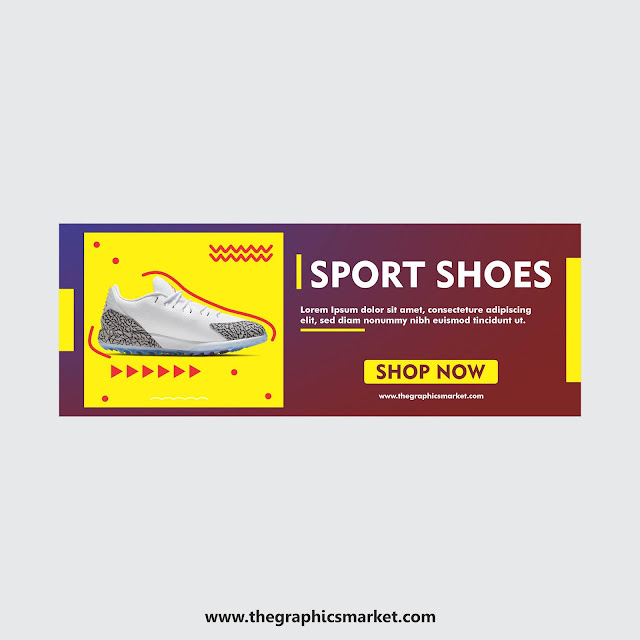 Shoe Banner Design Template Free Download