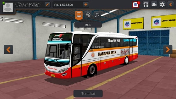 Livery JBHD2 New Setra MD Creation Harapan Jaya