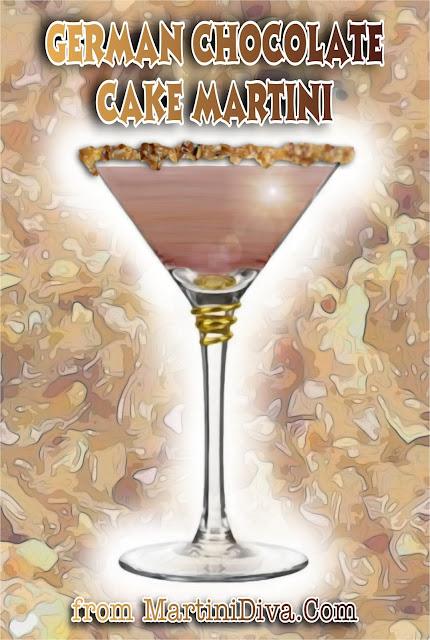 German Chocolate Cake Martini Cocktail Recipe