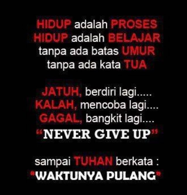 MOTIVATION QOUTE | NEVER GIVE UP