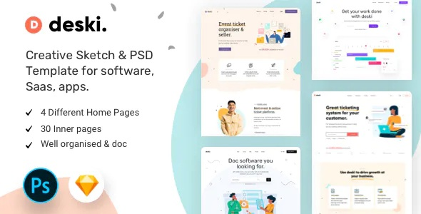 Best Creative Saas Sketch and PSD Template