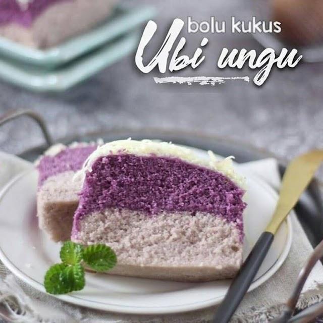 Resep Bolu Kukus - Cake Kukus Taro // Talas Ungu