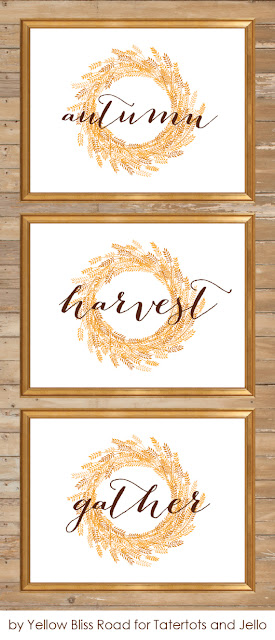 free fall printable wreath