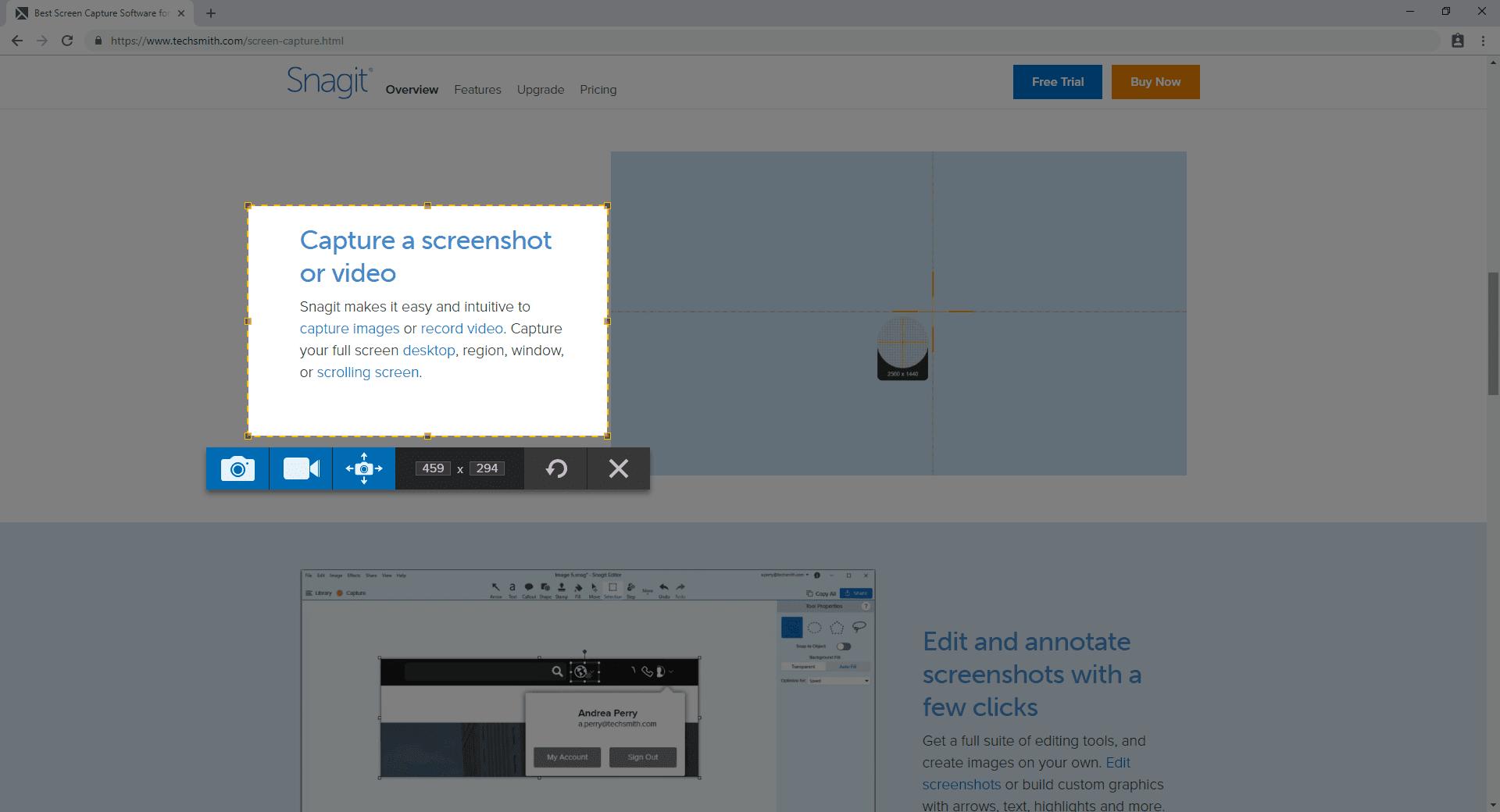 TechSmith Snagit Screen Capture Screenshot