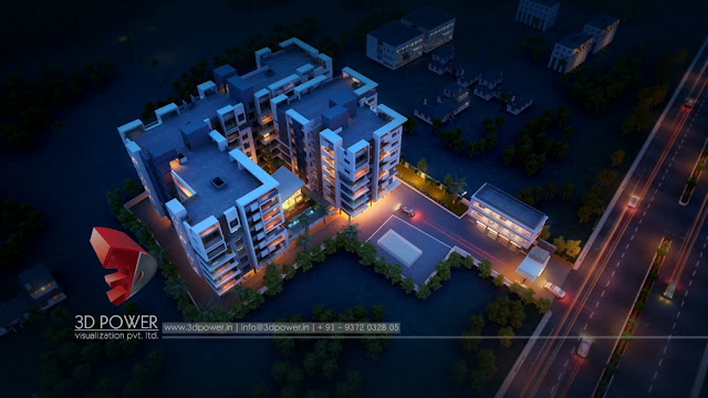 Lightning 3D Exterior Rendering of an Apartment