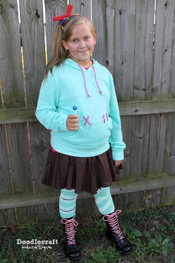 Vanellope Von Schweetz inspired from Disney's Wreck it Ralph Cosplay or Halloween Costume DIY! How to make the perfect last minute costume!