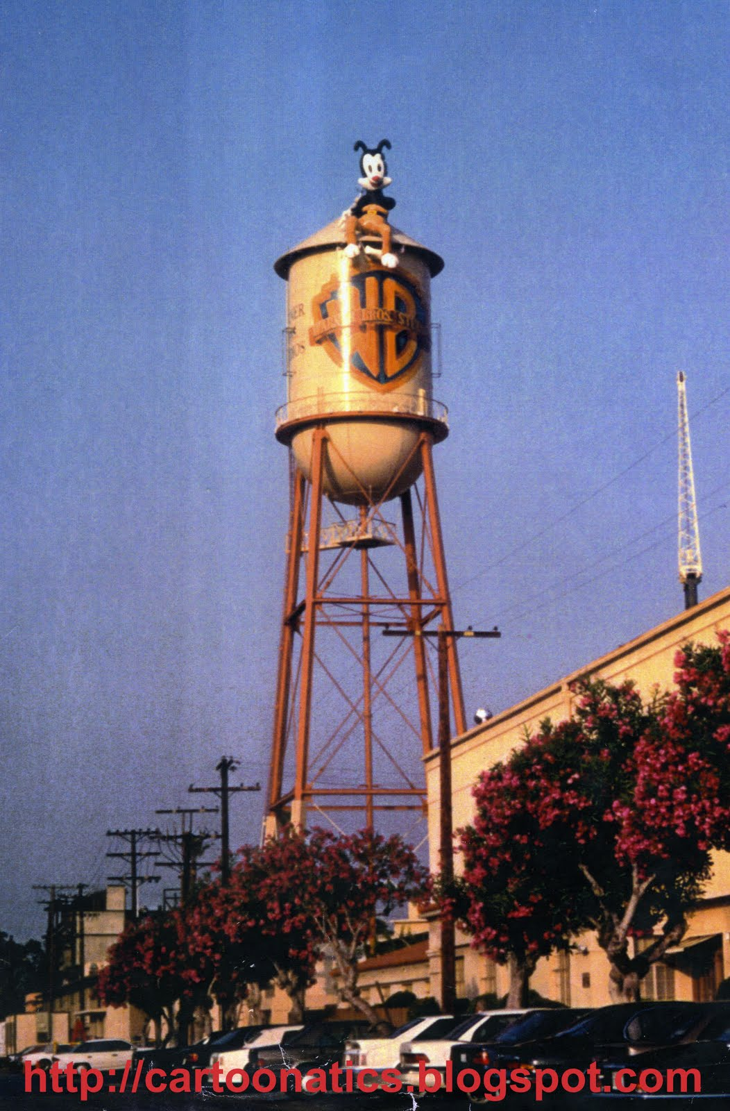 Cartoonatics: Yakko on the Warner Bros. Studio Water Tower ...
