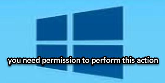حل مشكلة رسالة الخطا you need permission to perform this action
