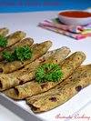 Potato Parsley Parathas