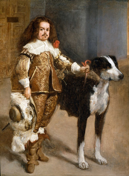 Диего Веласкес - Портрет шута с собакой (1650)