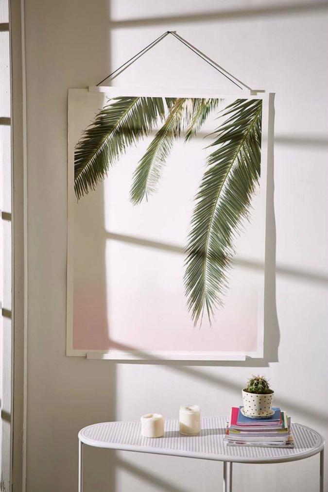 hanging palm art print