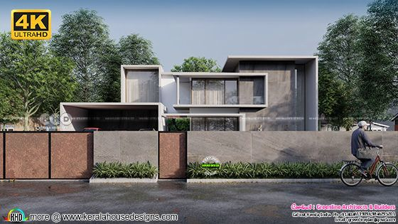 Minimal spber colored contemporary home design 4K rendering