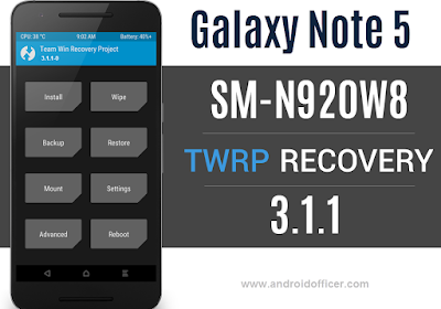 TWRP Recovery for Galaxy Note 5 SM-N920W8