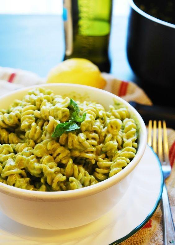Basil, Lemon & Avocado Creamy Pasta