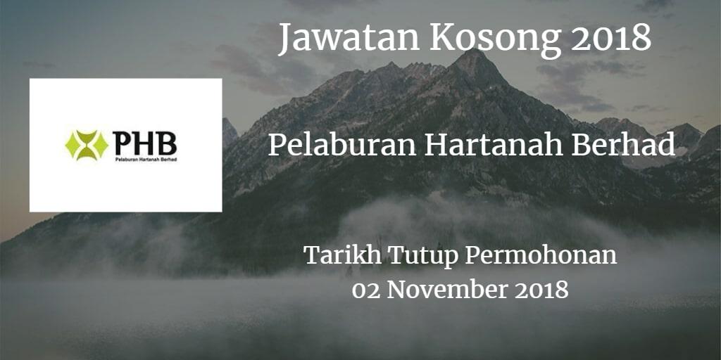 Jawatan Kosong Pelaburan Hartanah Berhad 02 November 2018