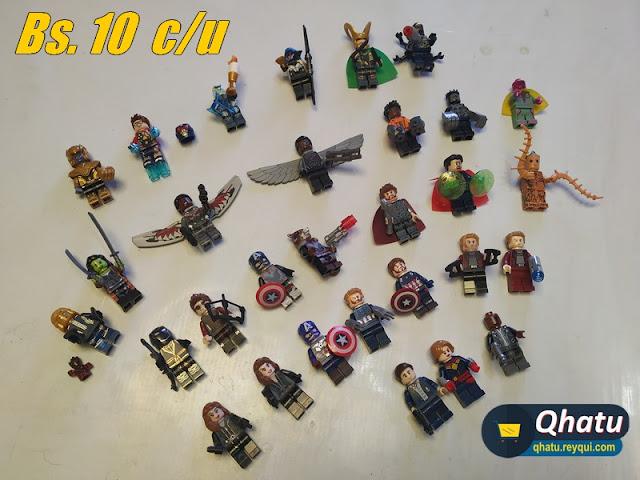 (Bs. 10) Figuras tipo Lego de colección: Variedad de personajes #QT19