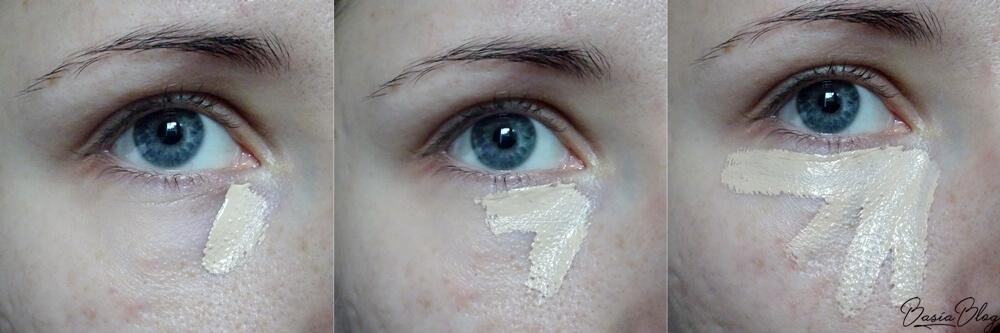 Tarte Shape Tape Light Sand, Tarte Shape Tape Concealer, korektor Tarte, Makeup Revolution Conceal&Define C2, Makeup Revolution Concealer, korektor Makeup Revolution, porównanie, Tarte Light Sand, MUR C2, mocno kryjący korektor, jasny korektor, jasny kryjący korektor, efekt na skórze, efekt pod oczami