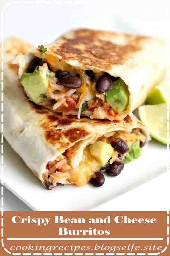 4.8 ★★★★★ | Are you looking for a quick and easy dinner?  You will love these bean and cheese burritos.  They are loaded with our favorite ingredients and taste amazing!  We dipped them in salsa and even our picky eaters devoured them. #vegetarian #recipes #easy #dinner #ideas