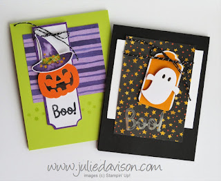 September 2018 Paper Pumpkin: Frights & Delights Alternative Projects ~ Stampin' Up! ~ www.juliedavison.com