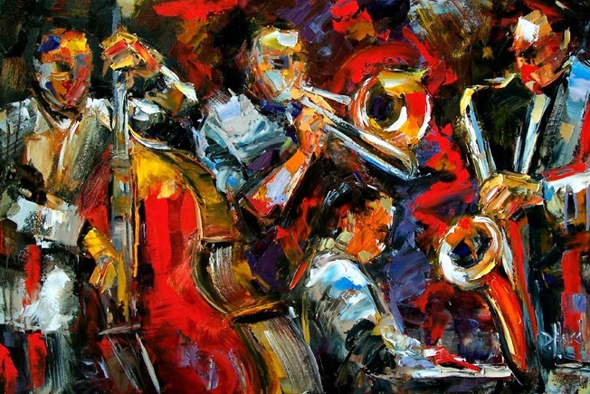 Daily Painters Abstract Gallery All Night Music Original