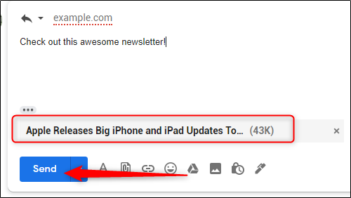 البريد الإلكتروني المرفق للرد على البريد الإلكتروني