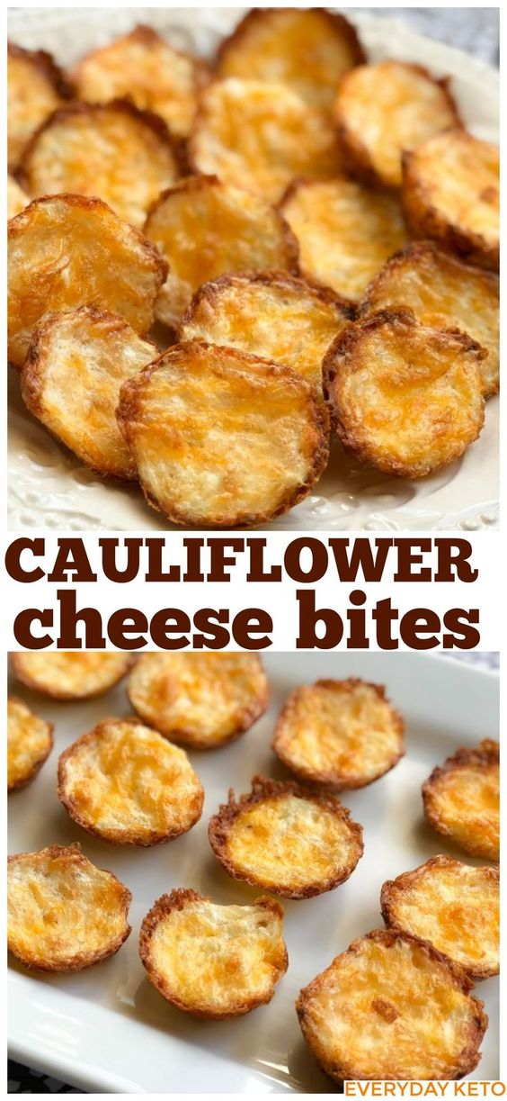 These Keto Cauliflower Bites are the easiest and tastiest Keto or low carb snack! #cauliflowerbites #ketosnack