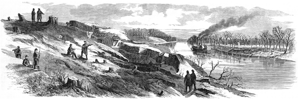 pencil drawing of Fort Donelson from ushistoryimages.com