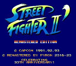 Street Fighter II remastered sega megadrive