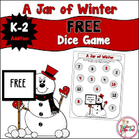 Free Jar of Winter Math Addition Game