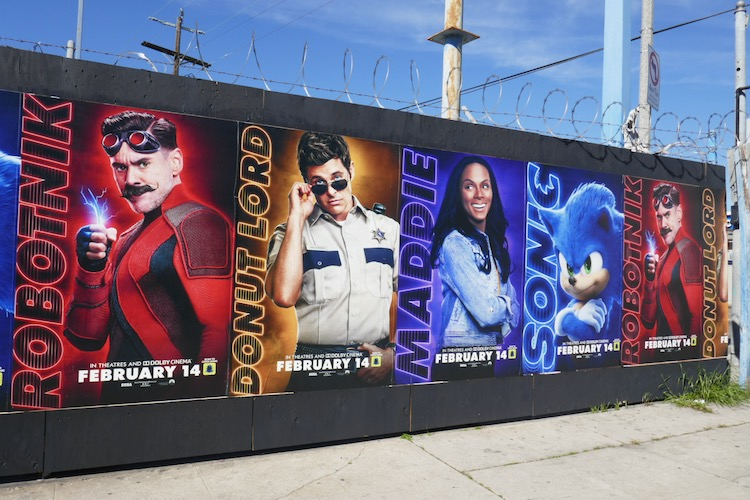 Sonic the Hedgehog street posters
