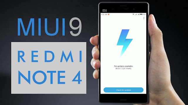 ROM MIUI 9 untuk Xiaomi Redmi Note 4 Series