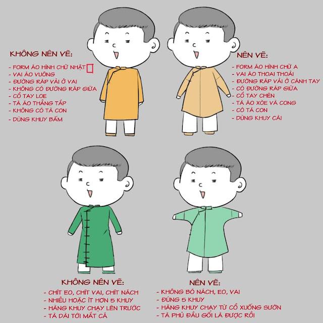 Những điều cần tránh khi may áo dài ngũ thân
