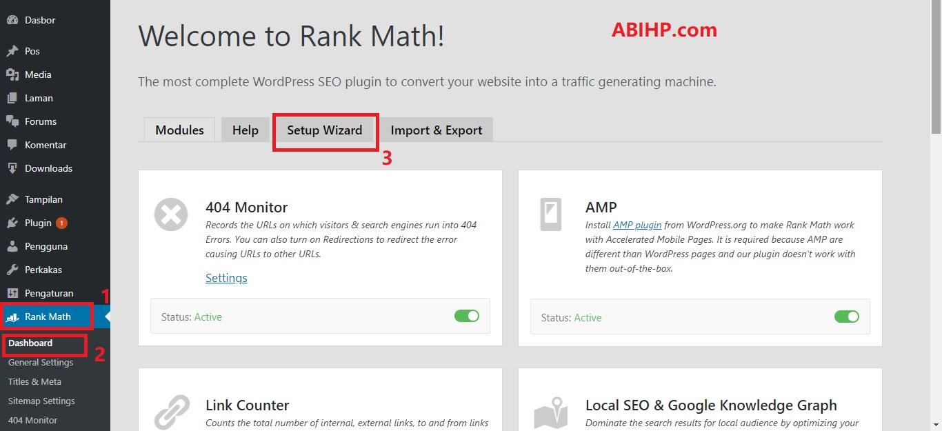 Setup Wizard Rank Math