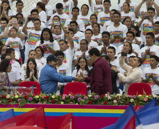 Respaldo de Ortega a Maduro marca el aniversario sandinista en Nicaragua