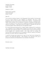 Application Letter Sample for Nurses