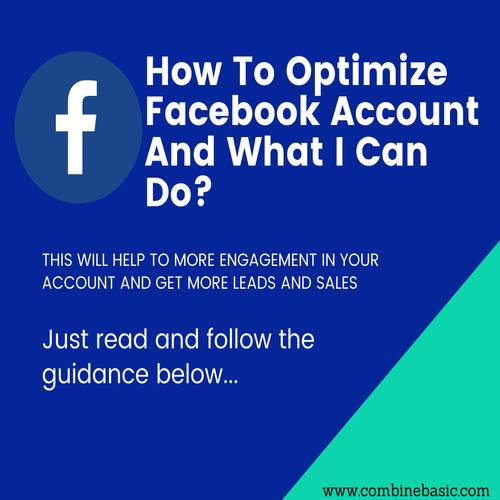 Optimize Facebook Account