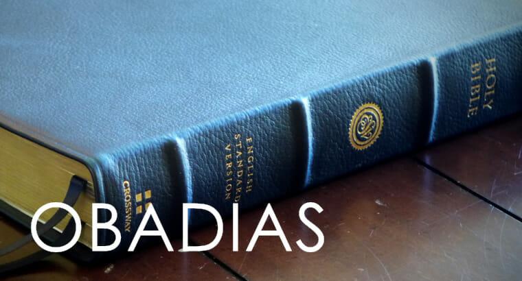 Obadias: o cuidado para com a retribuição divina