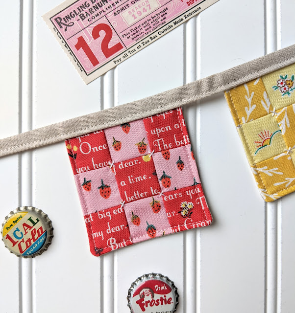 Nine Patch Bunting Tutorial by Heidi Staples of Fabric Mutt