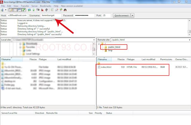 menggunakan FileZilla untuk FTP