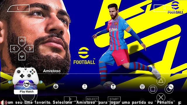 تحميل لعبة eFOOTBALL PES 2022 PPSSPP للاندرويد CAMERA PS5 💥😱⚽