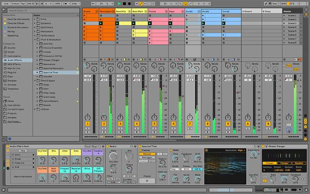 Interface da DAW Ableton Live 11 Suite v11.0.1