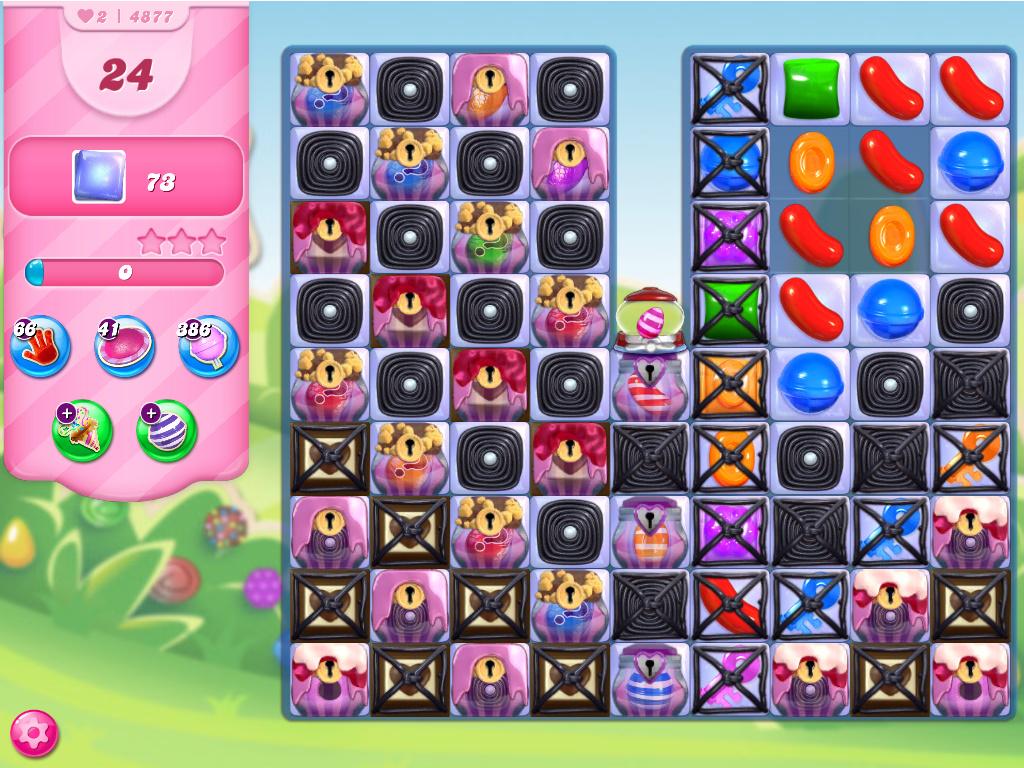 Candy Crush Saga level 4877